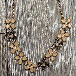 J. Crew Crystal Flower Necklace